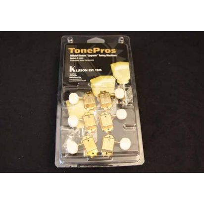 Tone Pro's Tpkbw-G 3X3 Bolt Bush Rnd Wh Btn Gold