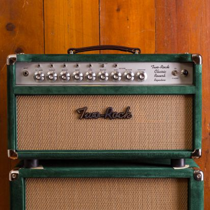 Two-Rock Class. Rev. Set - 100w Head + Cab Green Suede tolex