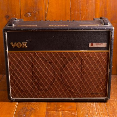 Vox AC-30 JMI 1963 / Black tolex, copper panel 30 watt tube combo