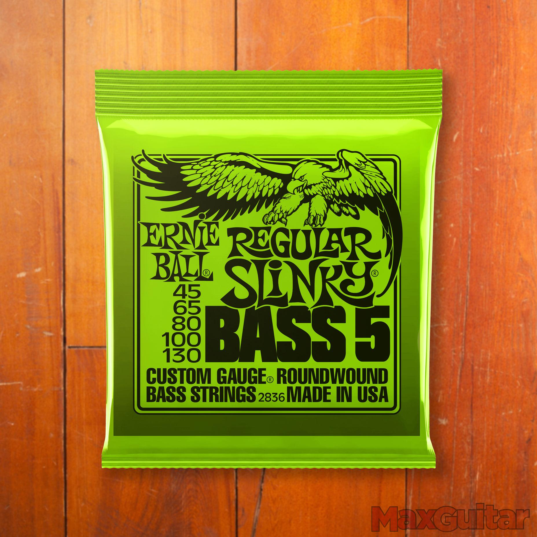 Ernie Ball 2836 Bass 5 Regular Slinky 045 130 snarenset