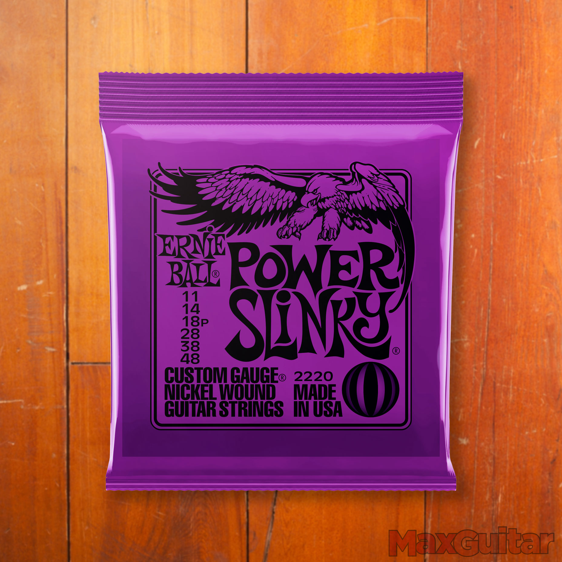 Ernie Ball 2220 Power Slinky 011 048 Purple snarenset