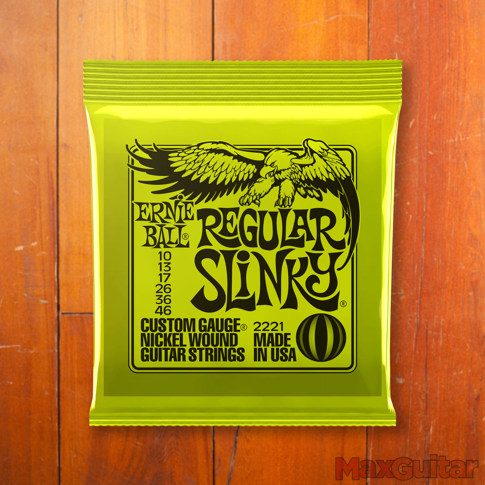 Ernie Ball 2221 Regular Slinky 010 046 Lime snarenset