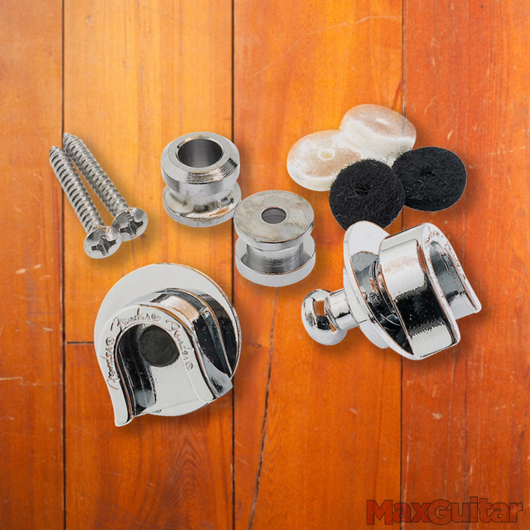 Fender straplocks chroom (set van 2)