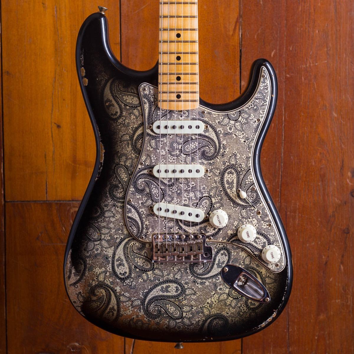 Fender Custom Shop 2018 LTD 1968 Stratocaster Black Paisley Relic