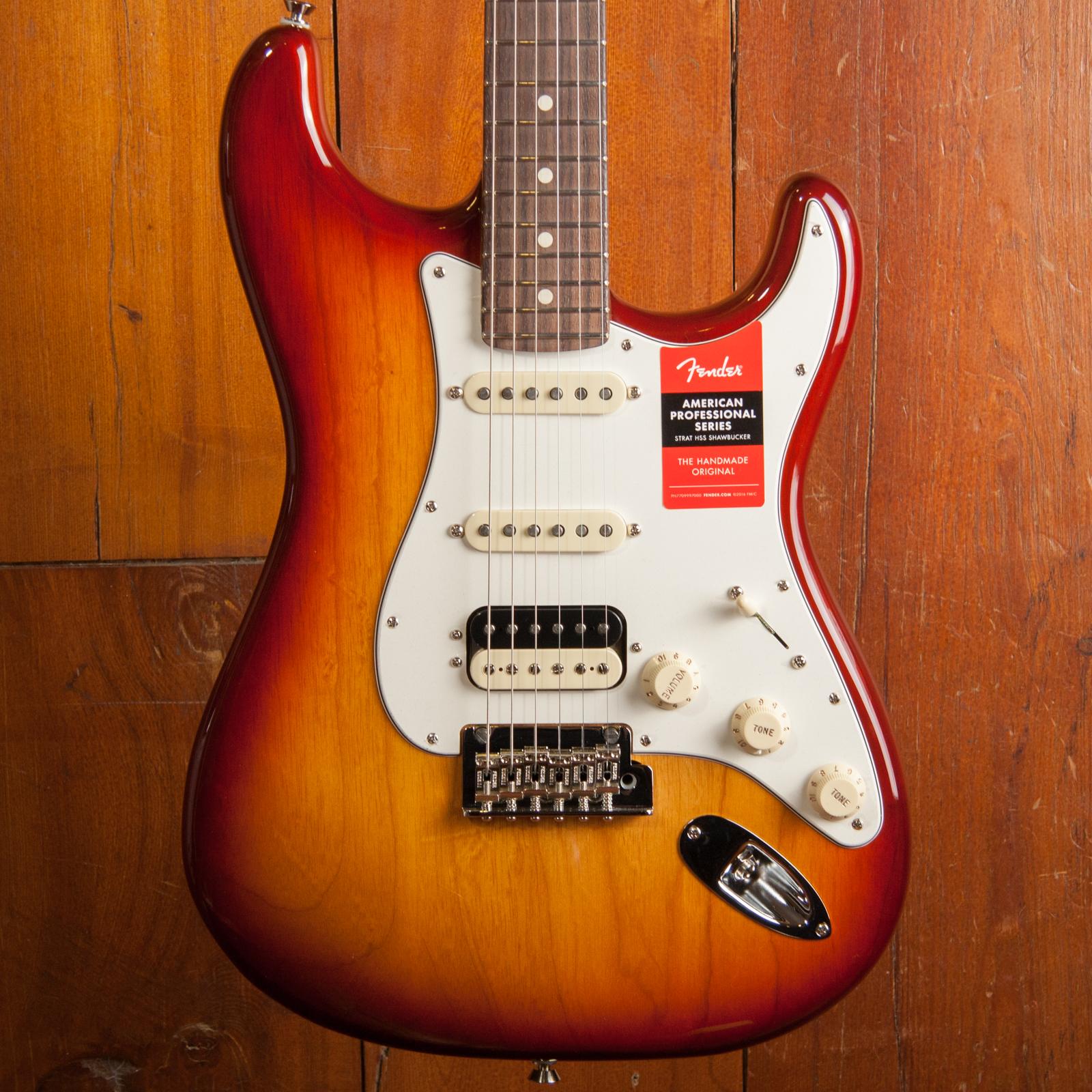Fender American Pro Strat HSS Shaw RW SSB (Ash)