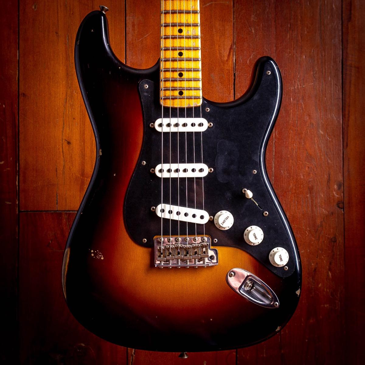 Fender CS NAMM Ancho Poblano Strat 2 Color Sunburst